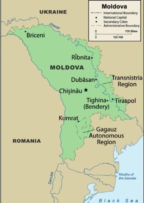 Tensions Are High In The Tiny Repressed Region Of Transnistria - Transnistria map