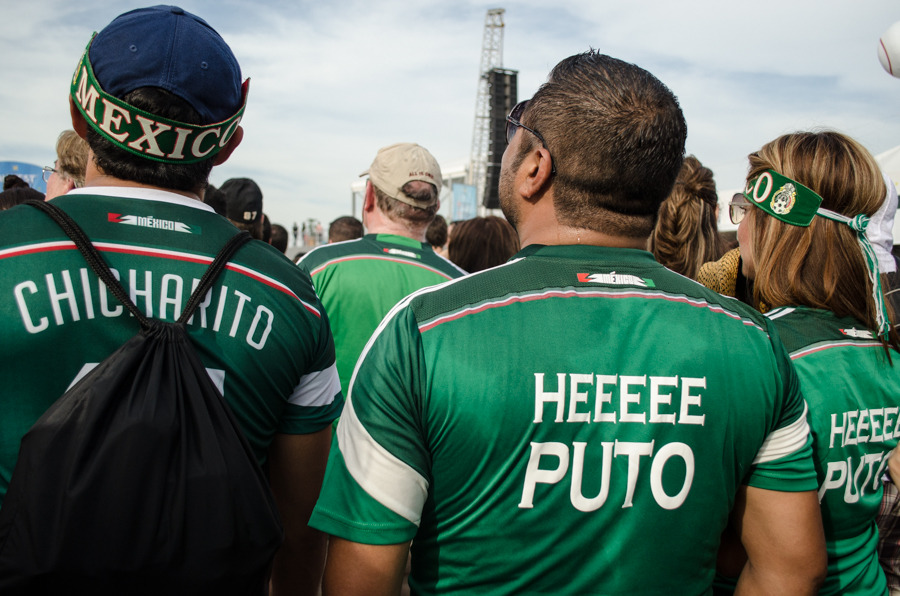 Mexico fans at the FIFA Fan Fest in Rio de Janeiro. All photos by ...