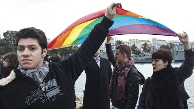 Greece's Kissing Gays Defied Neo-Nazis and Bigot Bishops Yesterday