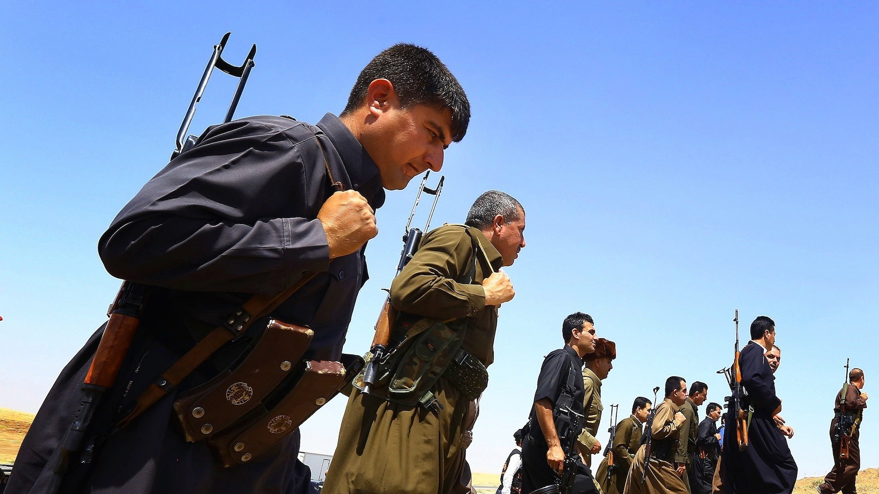 ISIS Fighters Roll Across Iraq — Until They See the Peshmerga