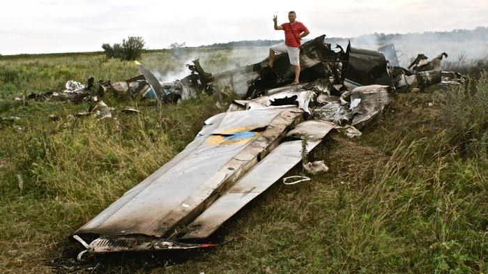 Downed Planes and Burnt Corpses in Eastern Ukraine