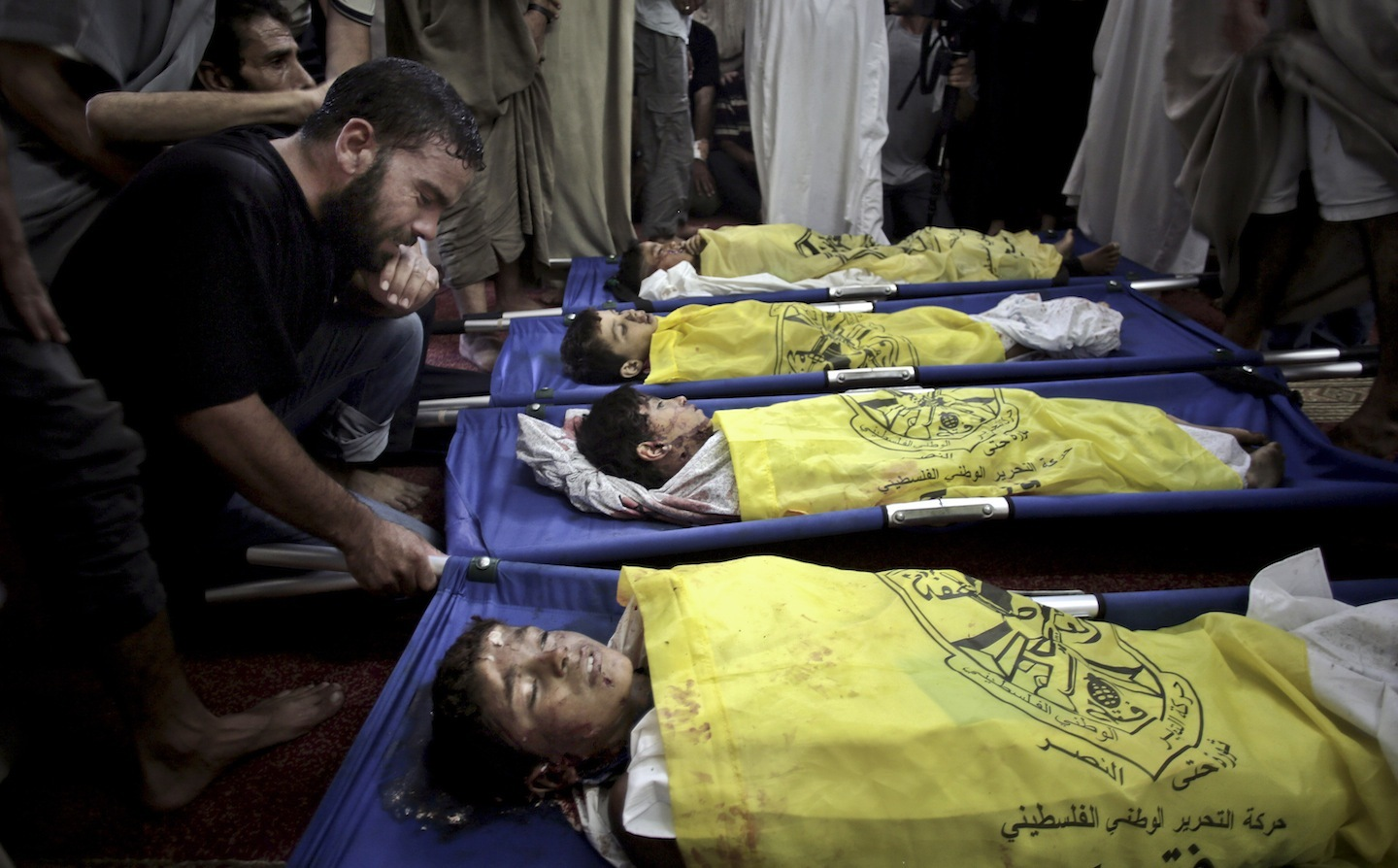 Dead Palestinian children