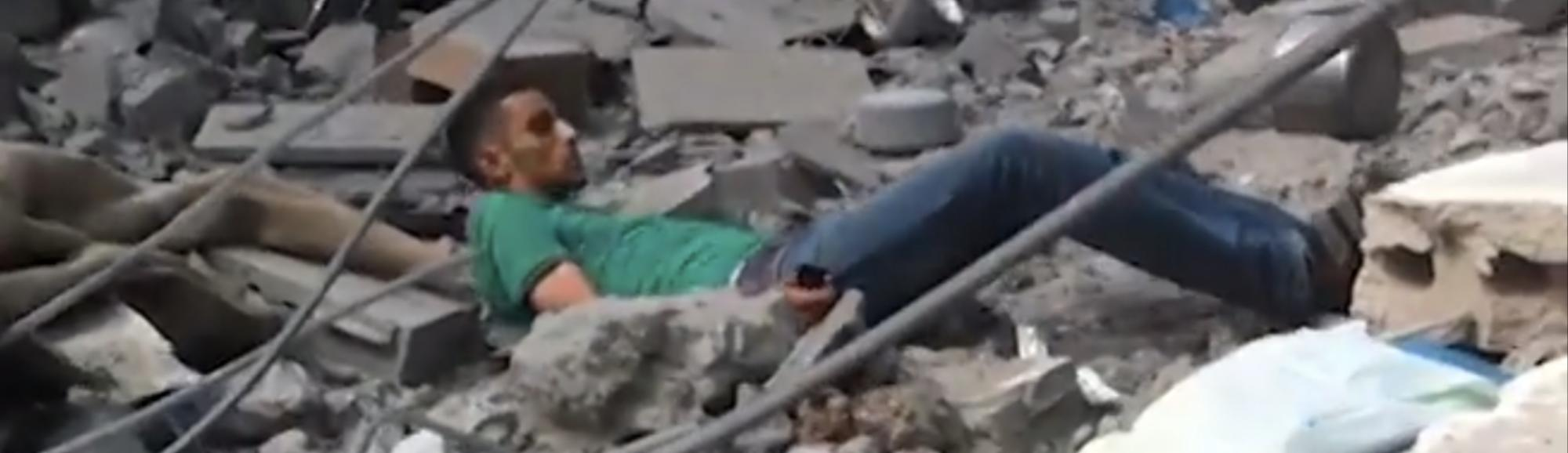 Cellphone Video Captures Gaza Civilian Reportedly Shot and Killed by Sniper