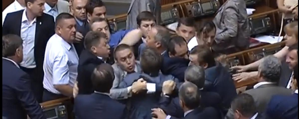 Video Shows a Brawl Erupt in Ukrainian Parliament After Vote to Draw on Military Reserves