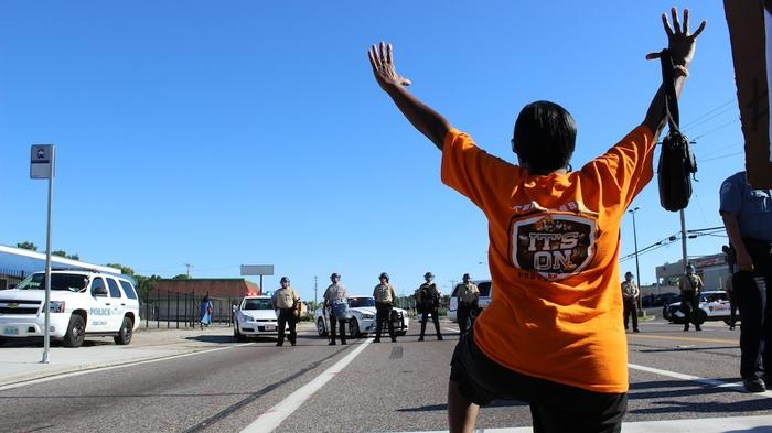 'Hands Up, Don't Shoot': Ferguson Protests in Photos