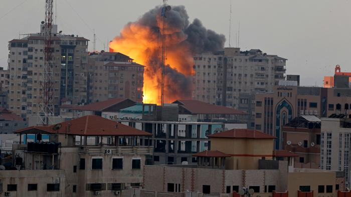 Video Shows Apartment Block Demolished as Israeli Airstrikes Resume