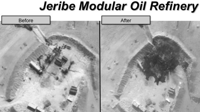 US Airstrikes Target the Islamic State's Seized Syrian Oilfields