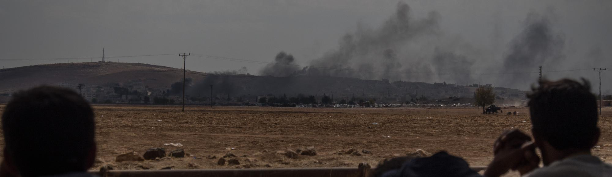 Airstrikes Continue Around Kobane As Kurds 'Drive Back' Islamic State Fighters