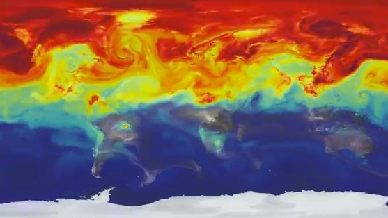 Psychedelic Video Shows a Year in the Life of Earth's Carbon Dioxide Pollution