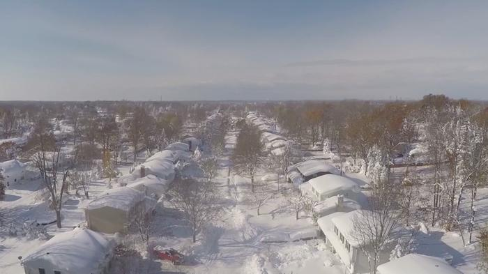Stunning Drone Footage Shows the Power of Deadly New York Snowstorm