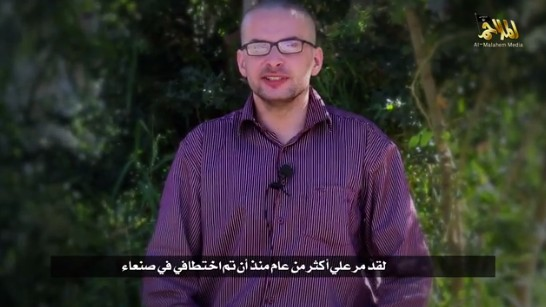 Video Emerges of Al Qaeda in Yemen Threatening to Kill Captive British-American Journalist