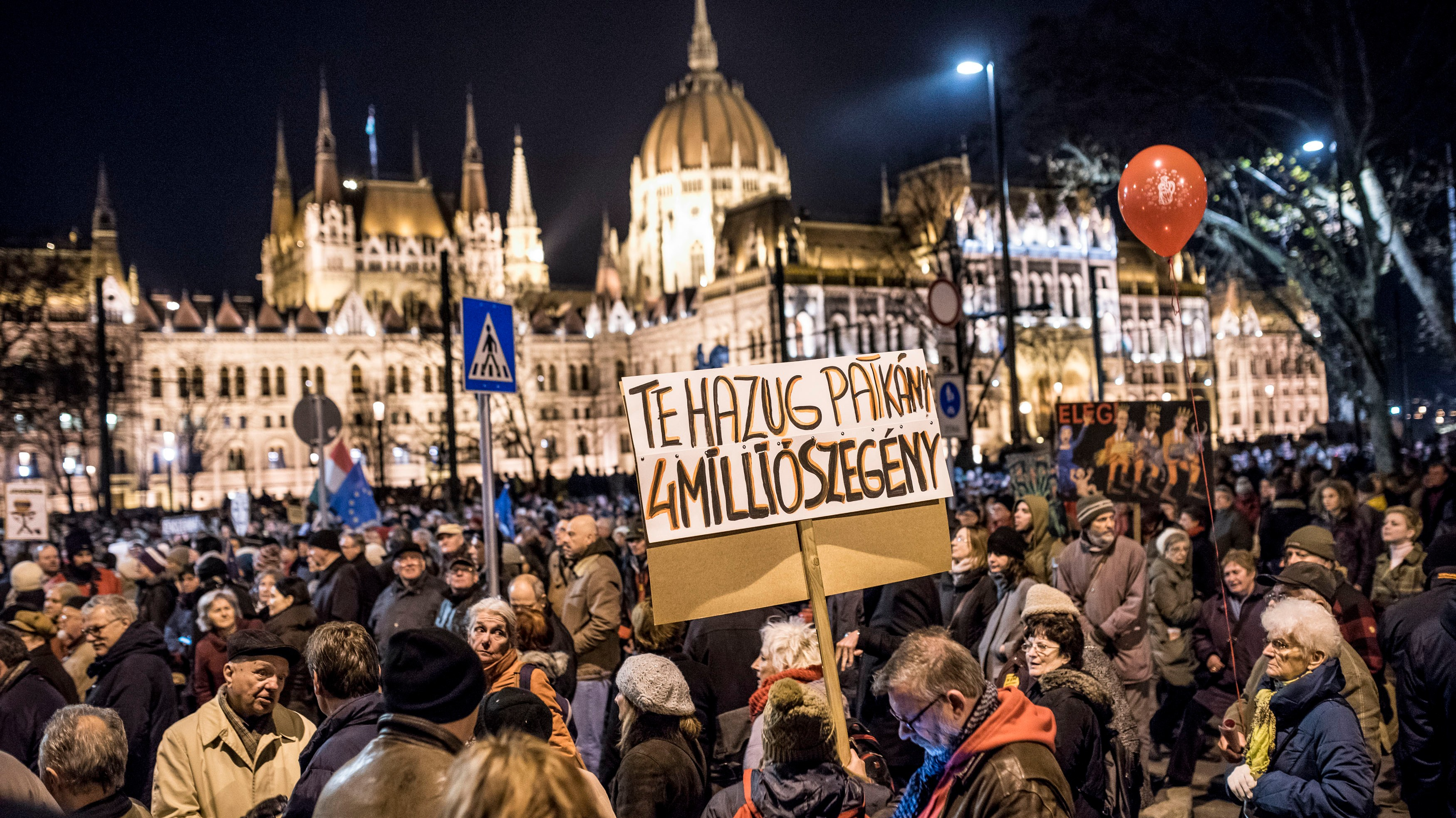 Opposition Activists Gather in Budapest to Protest Against Hungary's Prime Minister