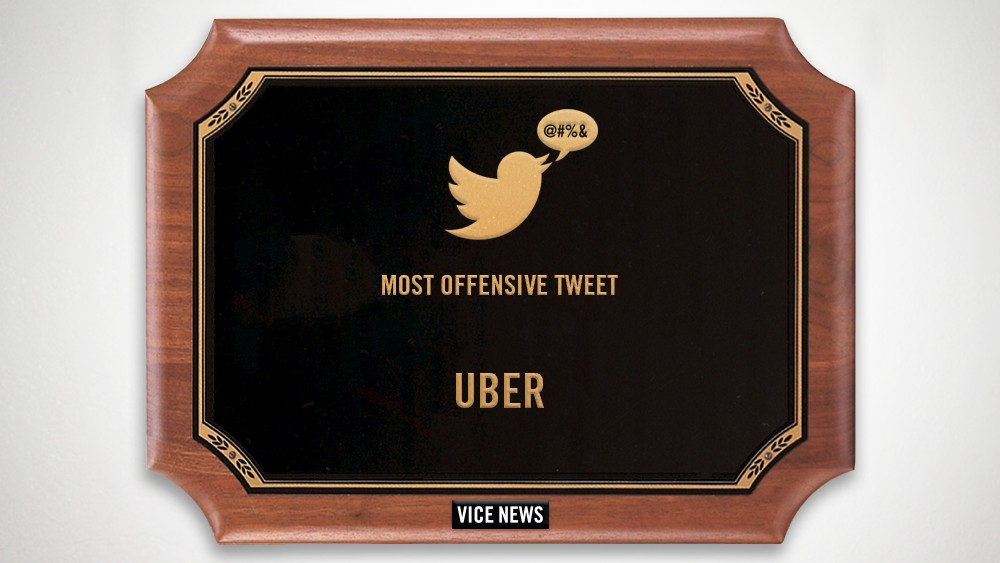 2014 VICE News Awards: The Most Offensive Tweet — Uber's White Privilege