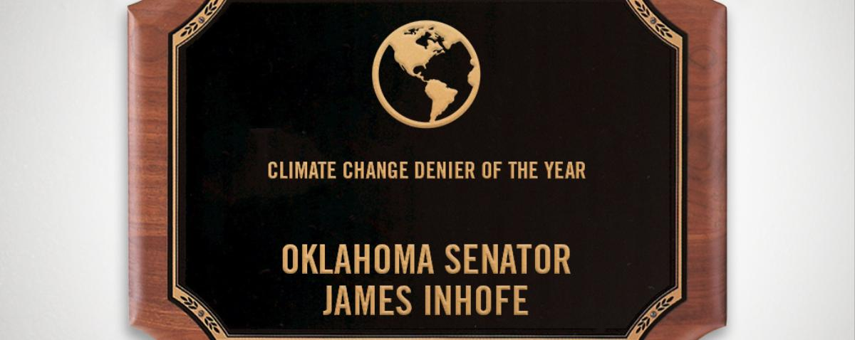2014 VICE News Awards: Climate Change Denier of the Year — James Inhofe