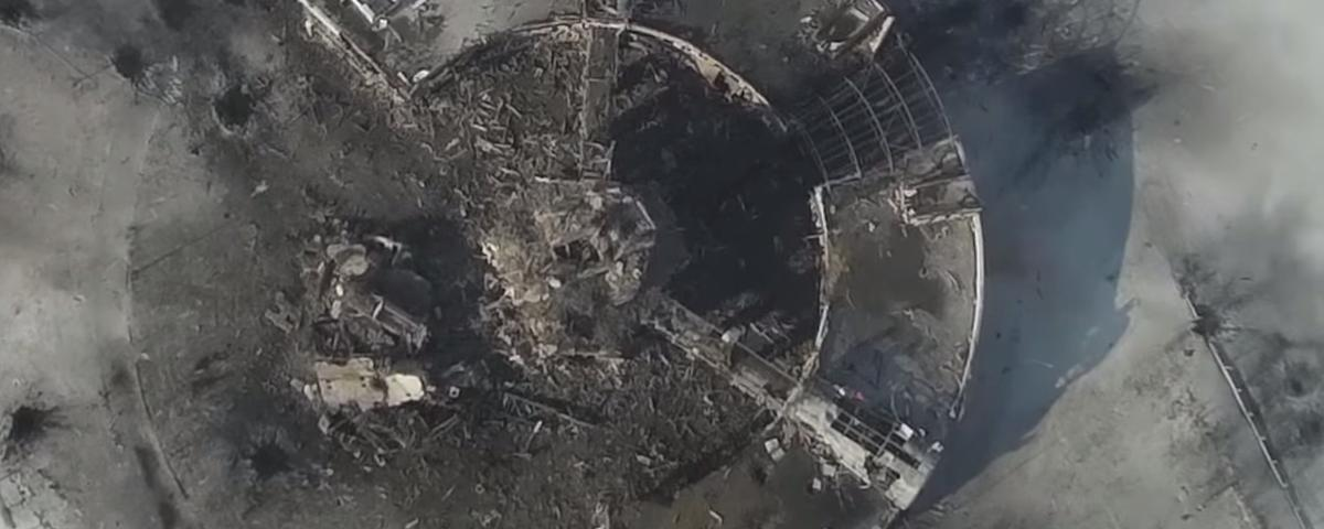 Drone Footage Shows Ukraine's Donetsk Airport in Ruins After Months of Fighting