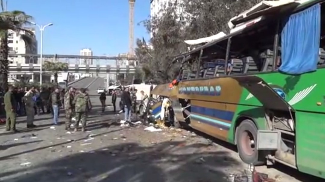 Rare Suicide Bombing in Syria's Capital Targets Bus Full of Lebanese Pilgrims