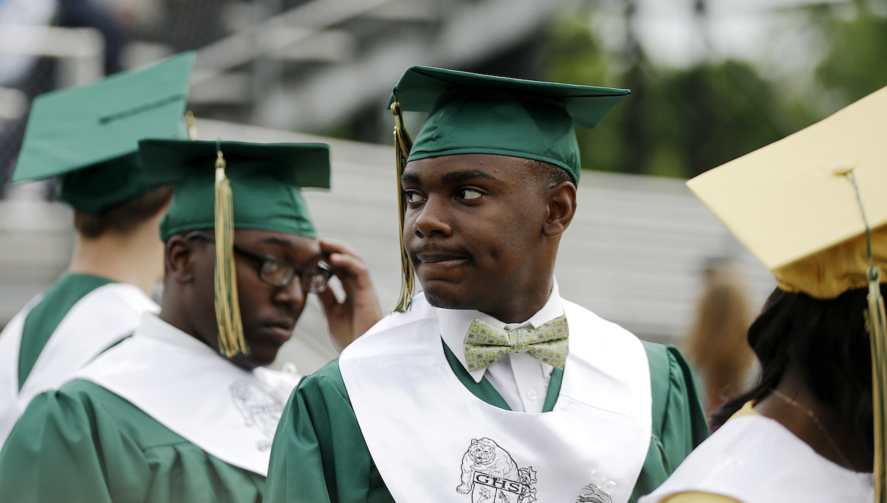 gap in education high school and People with just a high-school diploma make, on average, $692 a week, compared to $1,156 for those with a bachelor's degree and the returns of a college education have grown over time.