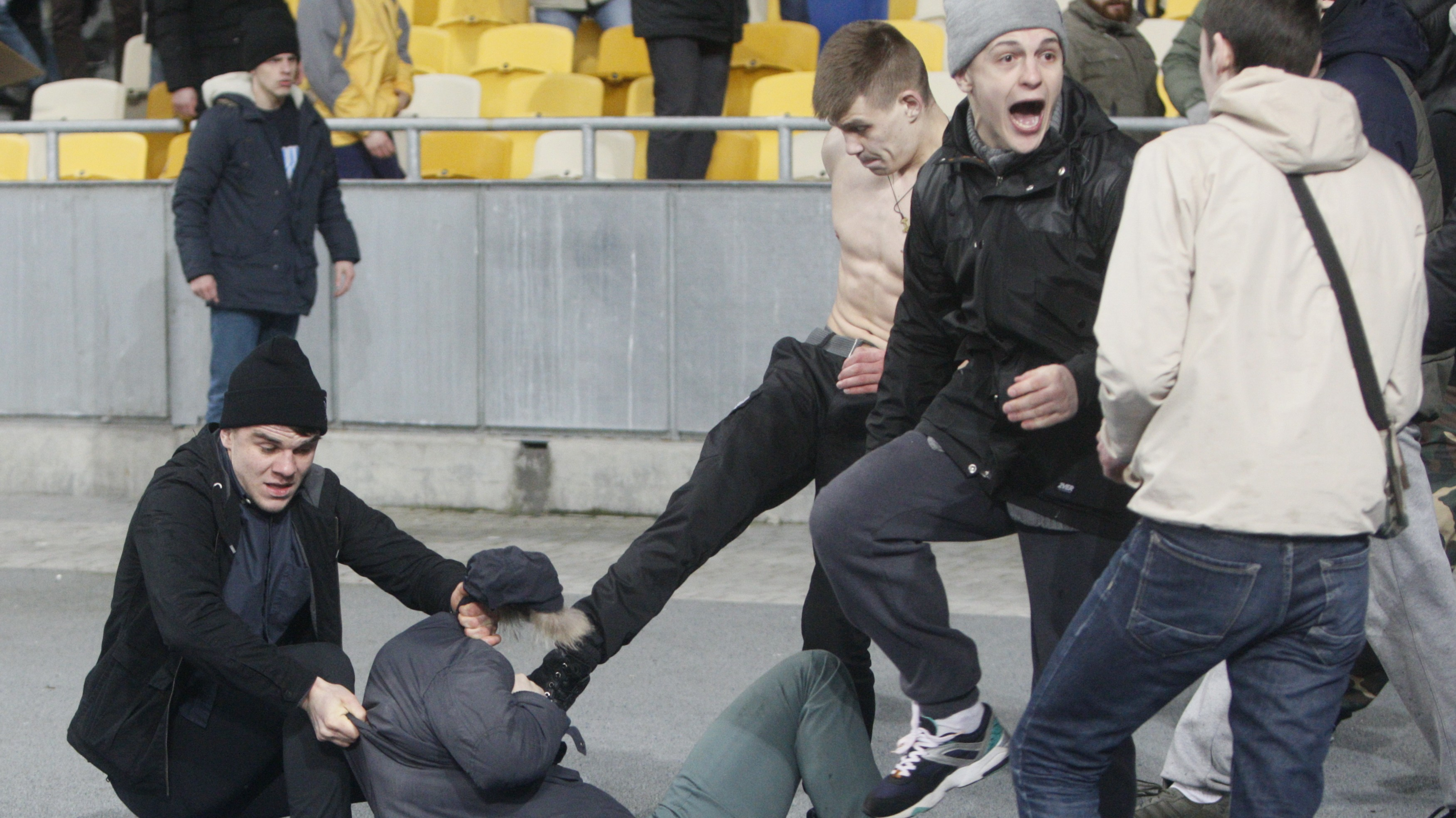 Ukrainian Soccer Fans Accused of Acting Like 'Rabid Dogs' After Match in Kiev Descends Into Chaos