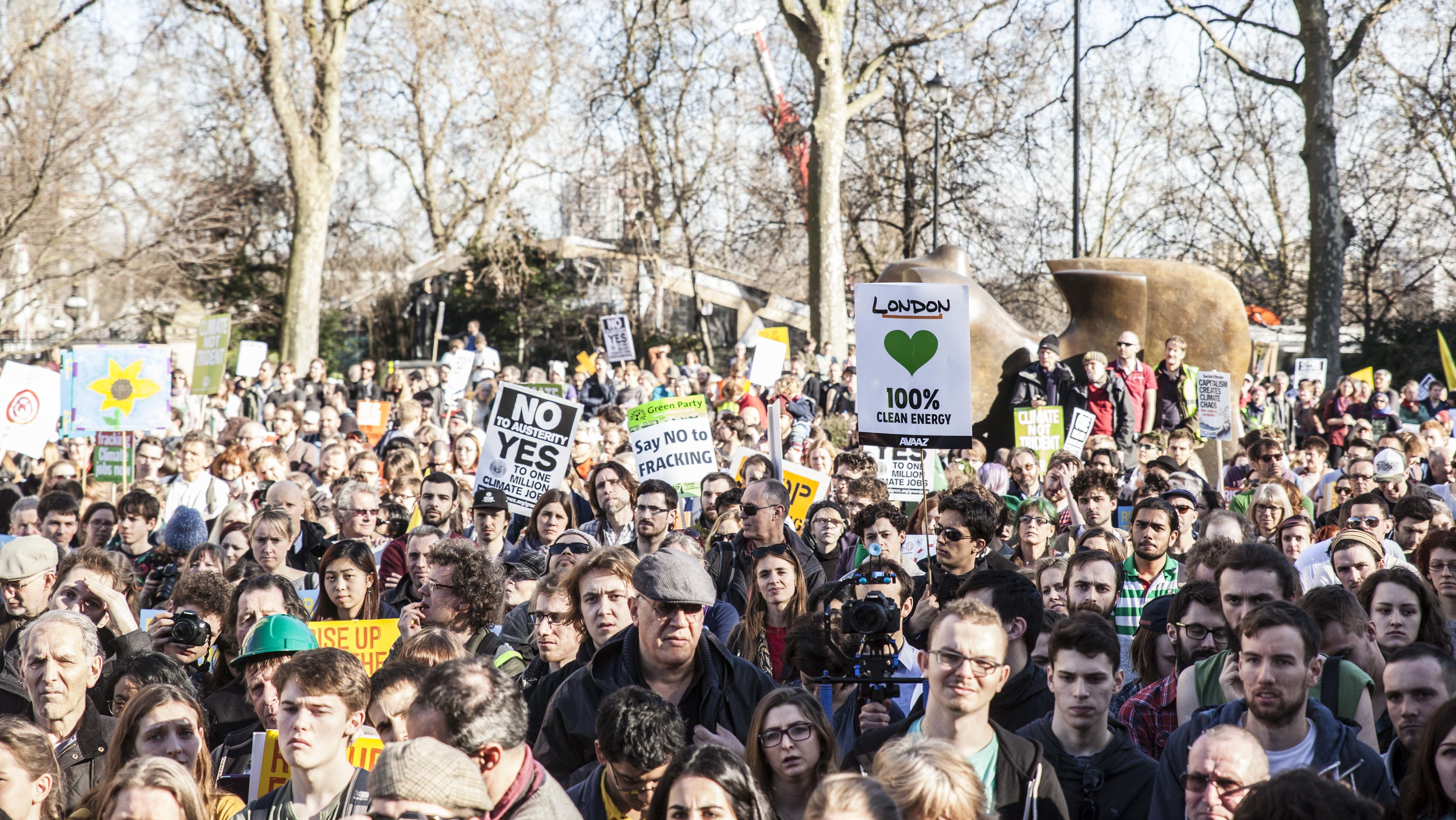 Tens of Thousands Take to the Streets of London Demanding Action on Climate Change