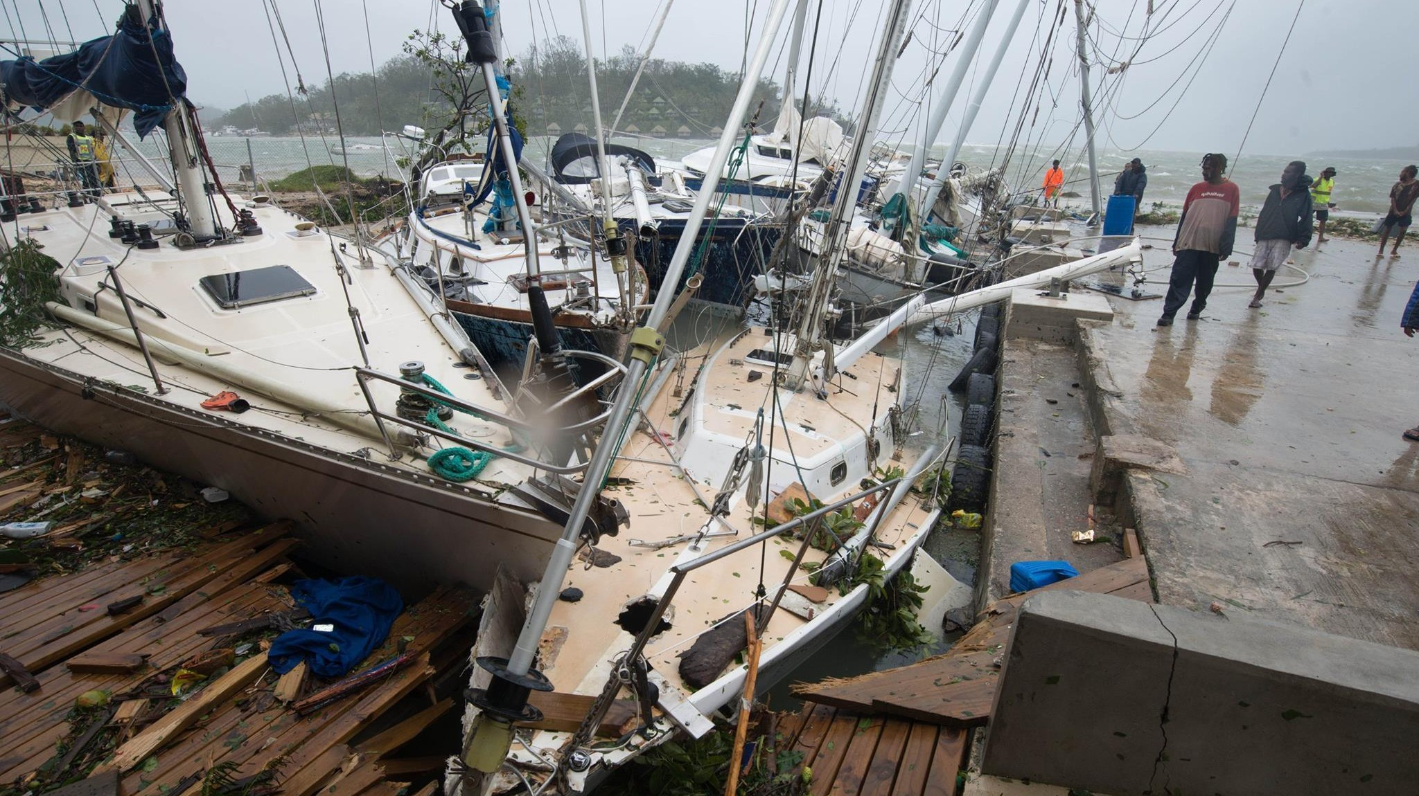 Tropical Cyclone Pam Pummels Pacific Islands