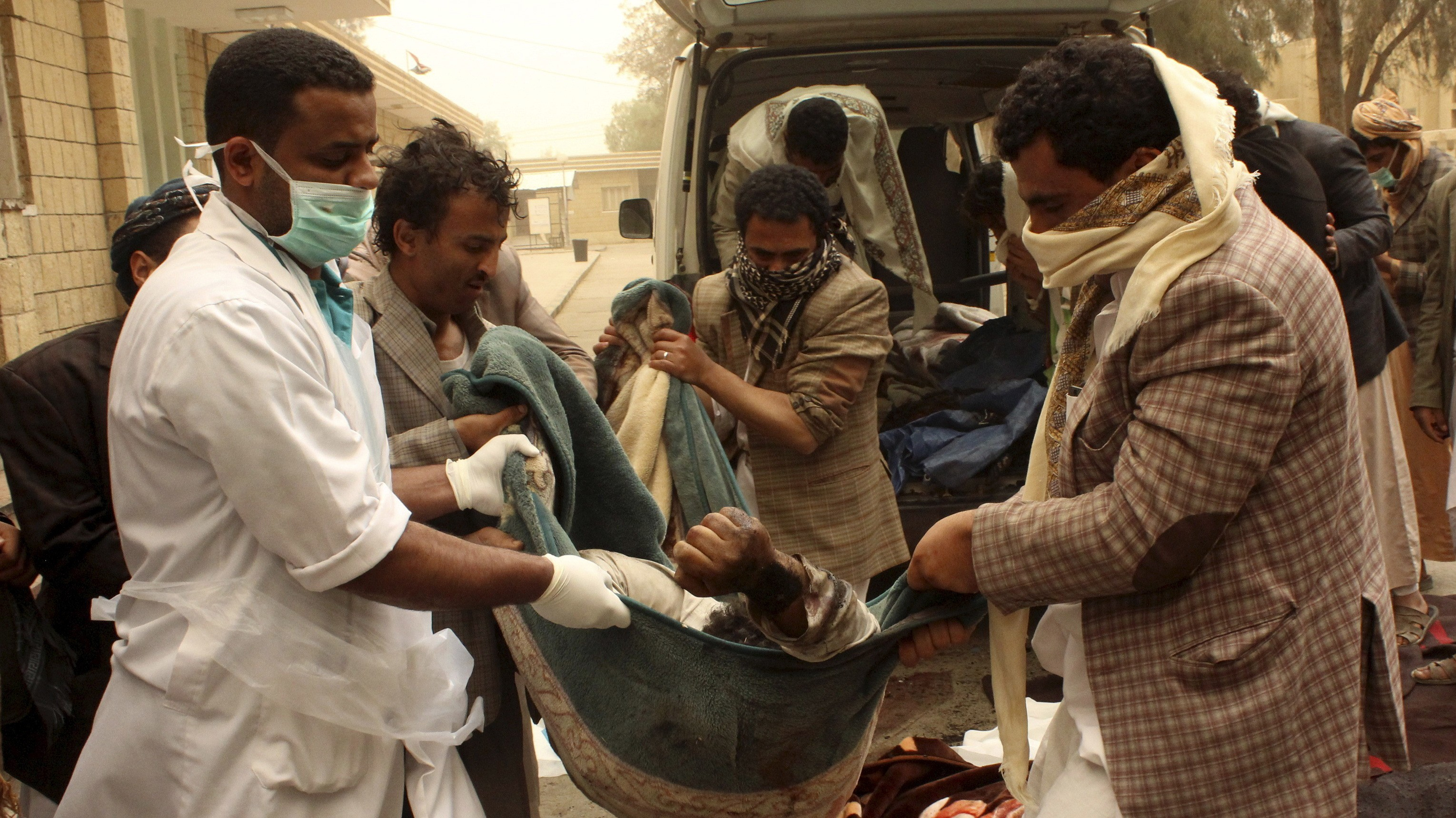 Saudi-led Airstrikes Pound Yemen, Killing Dozens