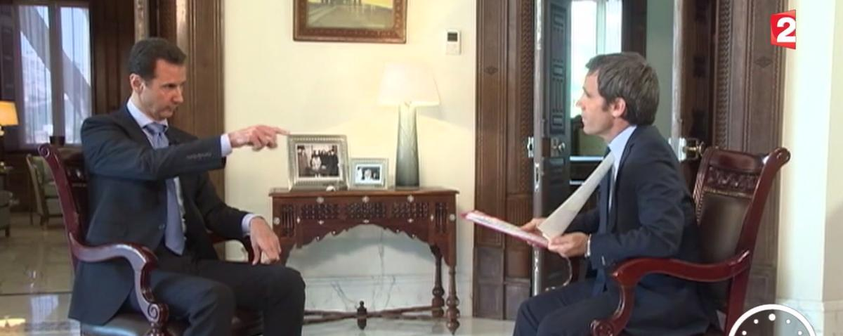 Syrian President Bashar al-Assad Denies Chemical Weapons Use in French TV Interview