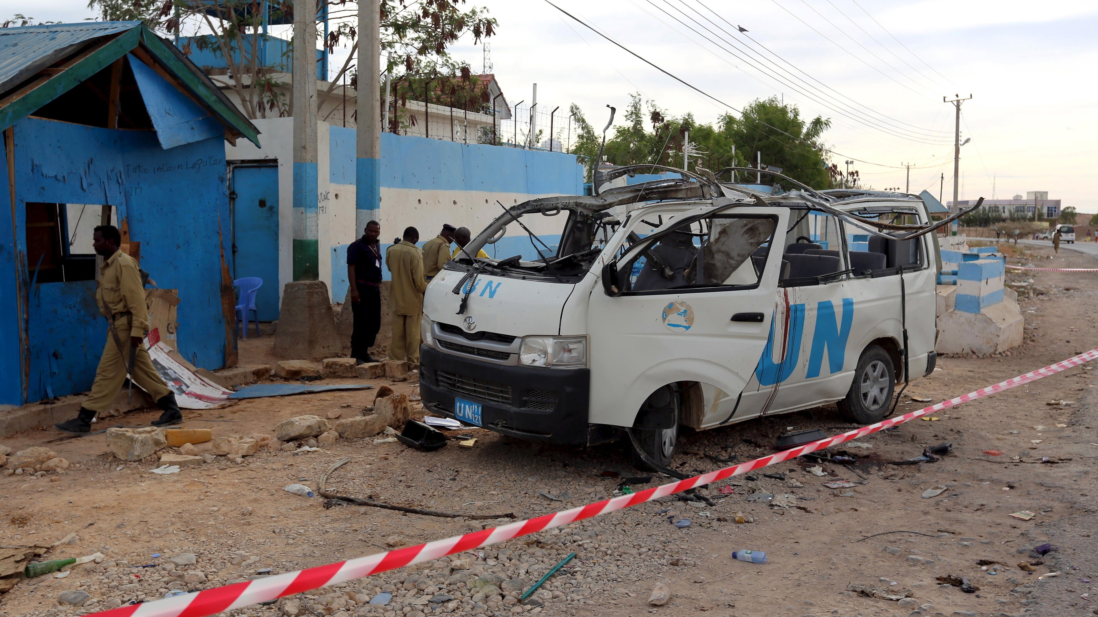 Graphic Photos Show Deadly Al Shabaab Attack on United Nations Vehicle in Puntland