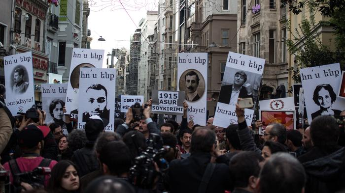 Thousands Gather in Istanbul to Demand Turkey Recognize Armenian Mass Killings as Genocide