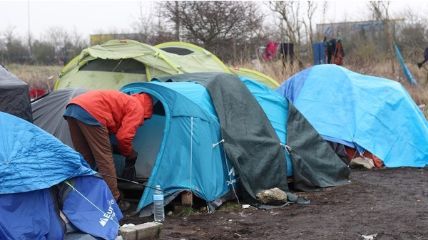 Migrants Live in Makeshift French Camp As They Seek Asylum in the UK