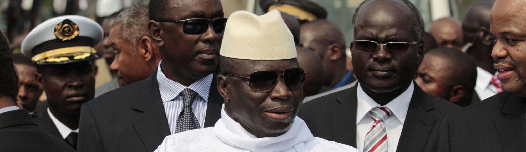 Gambian President Says He Will Slit Gay Men's Throats in Public Speech