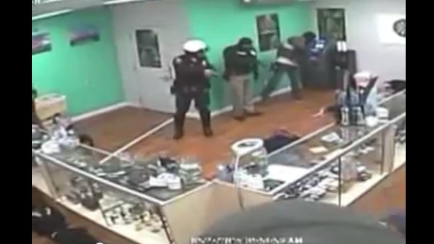 Video Appears to Show California Cops Behaving Badly and Eating Pot Candy During Dispensary Raid