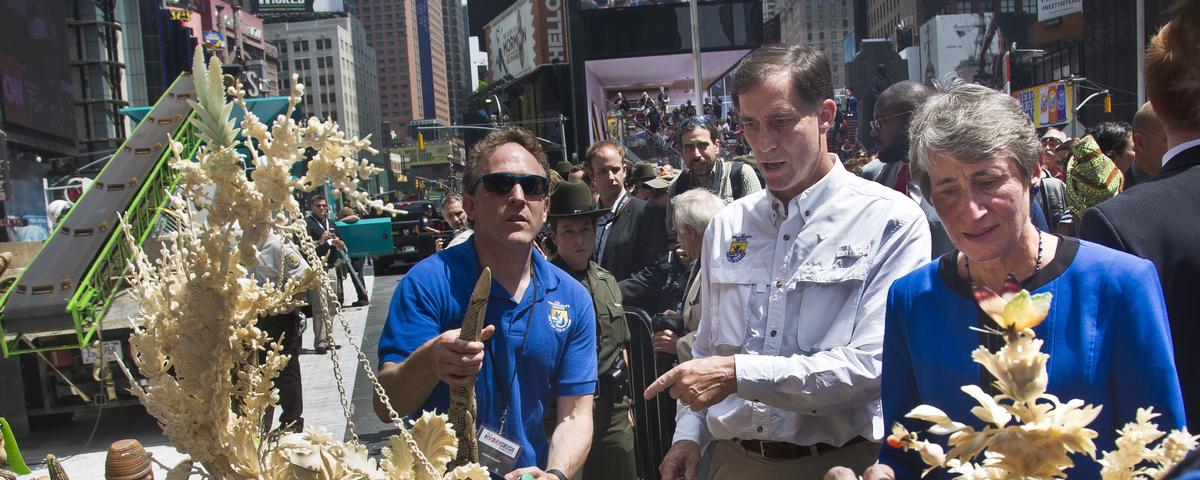 Watch a Ton of Ivory Get Crushed in NY's Times Square