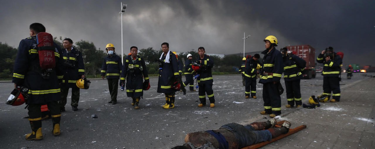 Video Shows Chinese Firefighters Pulling Survivor From Rubble After Tianjin Blast