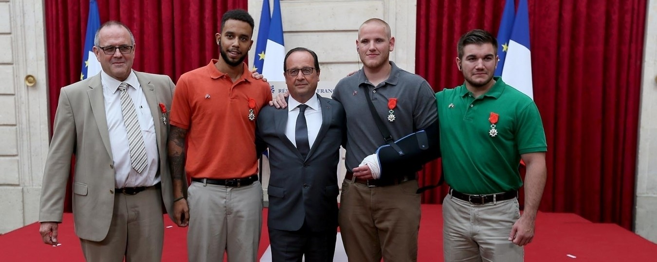 Americans Who Took Out Gunman on French Train Receive Country's Highest Honor in Paris