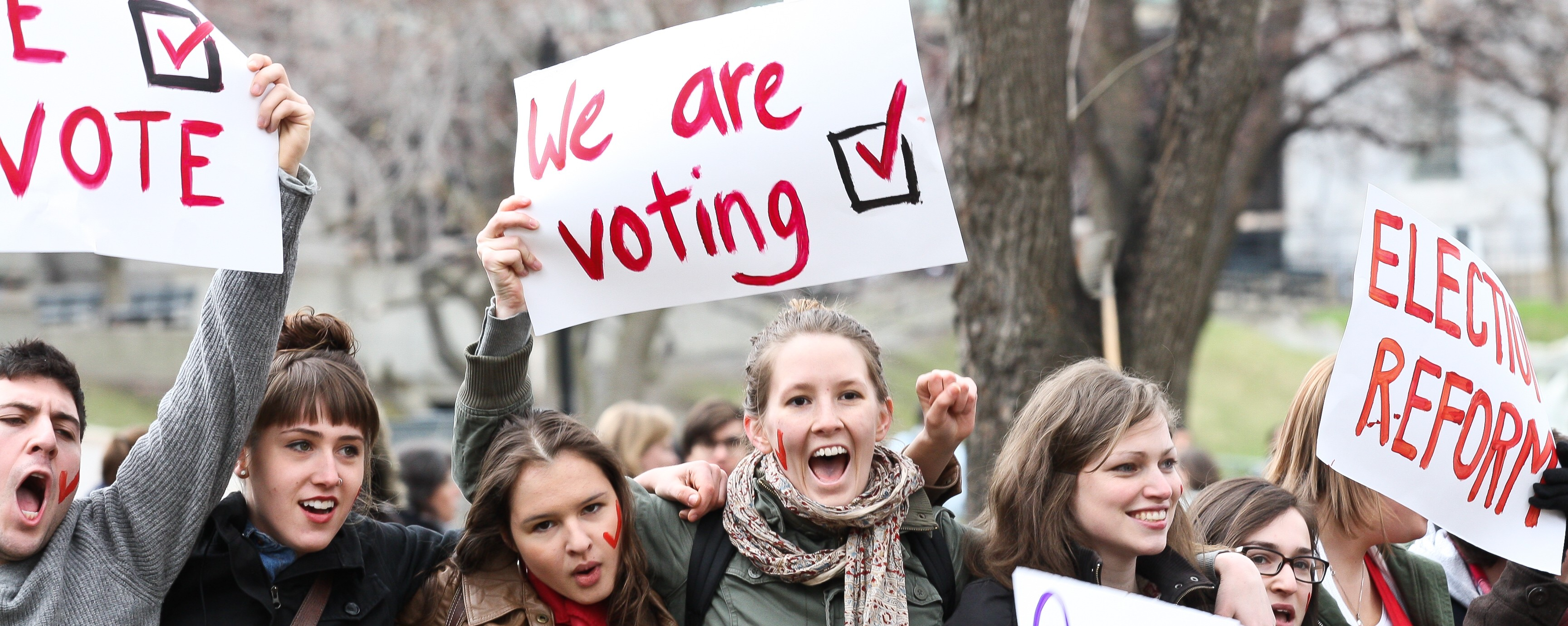 Image result for images of young voters