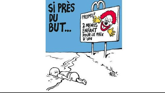 Drowned Migrant Cartoon Pisses People Off — Just as 'Charlie Hebdo' Likely Intended