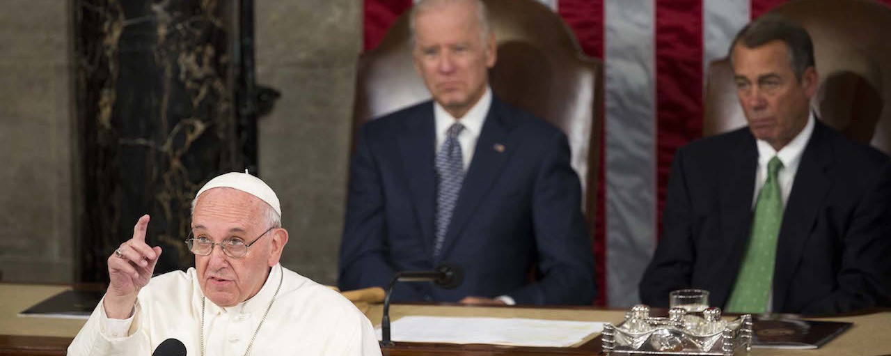 Pope Politely Sticks It to Congress in Historic Speech