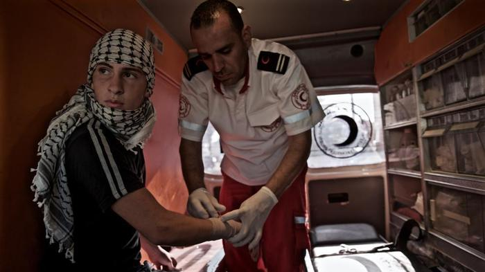In Photos: Riding Along With Medics on the Frontline of Clashes in the West Bank