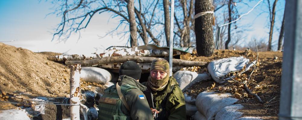 In Photos: Guns and Kittens on Ukraine's Frontline