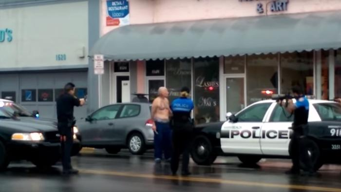 Graphic Video Shows Miami Beach Police Shoot Shirtless Man at Close Range