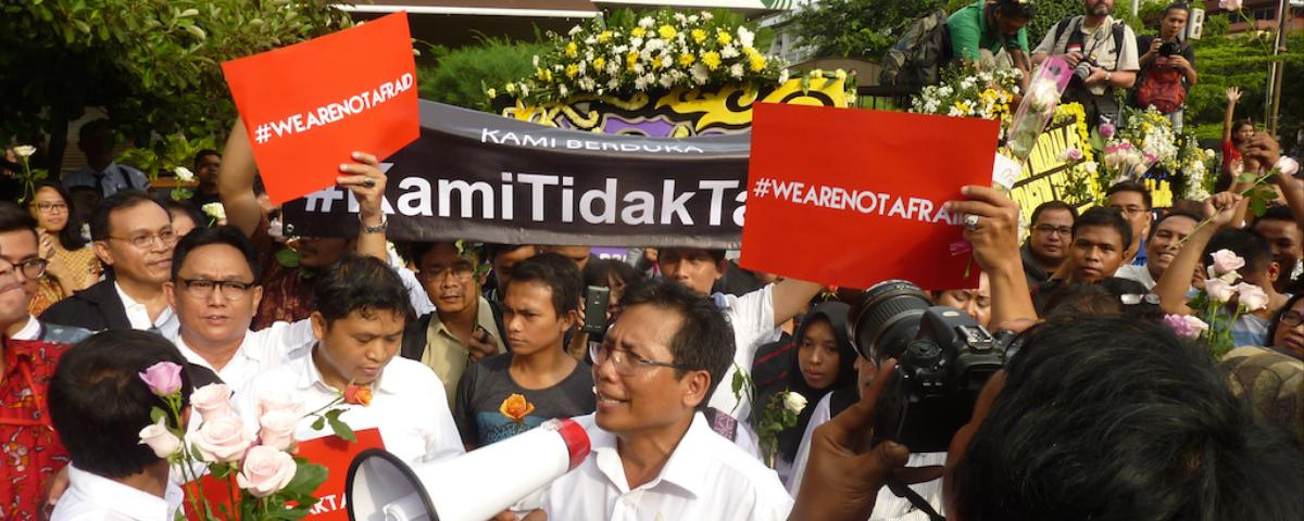 'If We Feel Afraid, We Will Lose': Indonesia Reacts to Terror Attacks with Defiant Protest