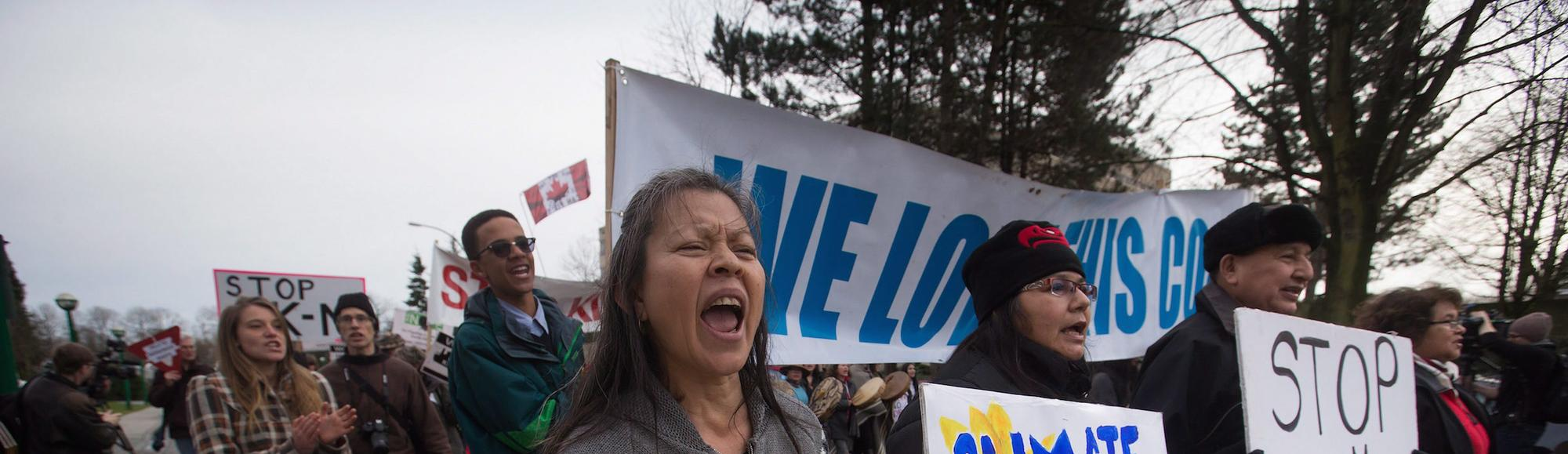 Protesters Accuse Trudeau of Broken Promises as BC Pipeline Review Forges Ahead