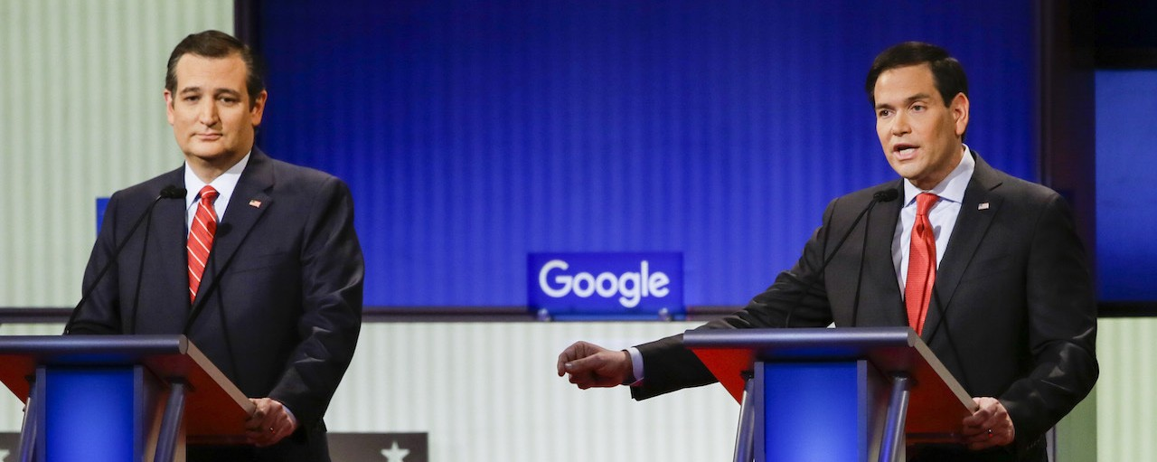 Donald Trump Proves He Can Dominate the Republican Debate Even When He's Not There