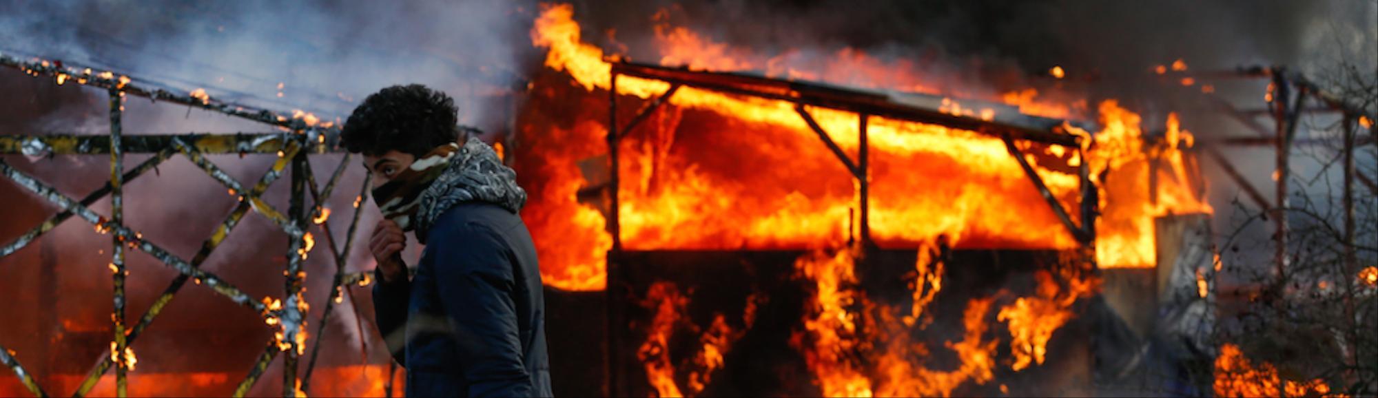 violent demolition of the jungle refugee camp in set to violent demolition of the jungle refugee camp in set to resume