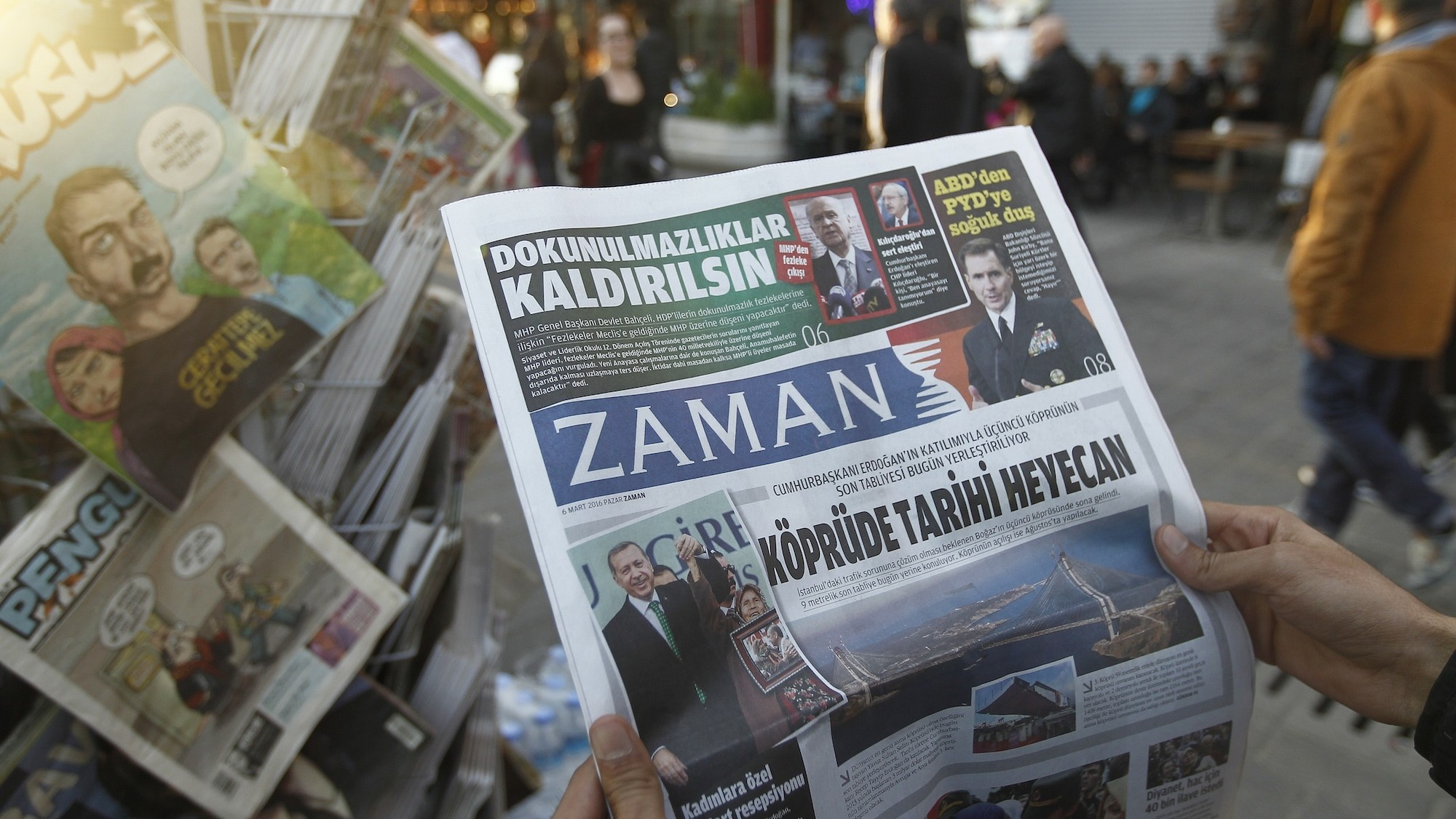 Seized Turkish Newspaper Transformed Overnight Into Pro-Government Mouthpiece