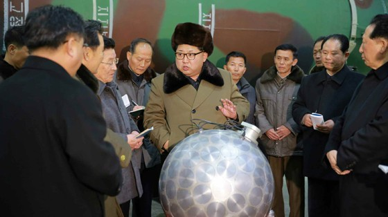 Kim Jong-un Posed for Photos With What North Korea Claims Is a Nuclear Warhead