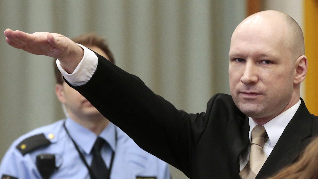 Mass Murderer Anders Breivik Gives Nazi Salute as He Appeals Solitary Confinement