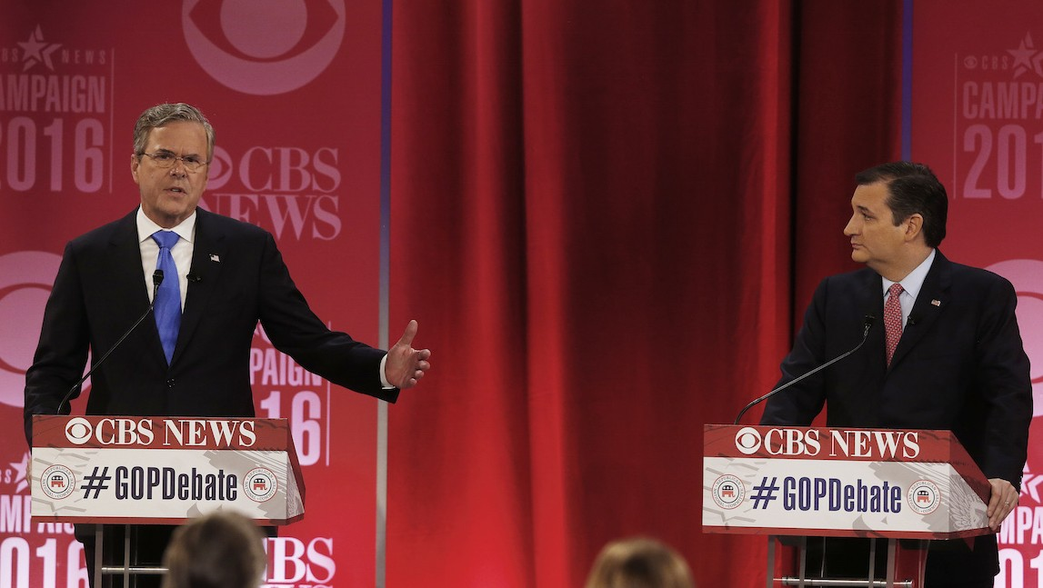 Jeb Bush Endorses Ted Cruz to Thwart 'Divisiveness and Vulgarity' of Donald Trump