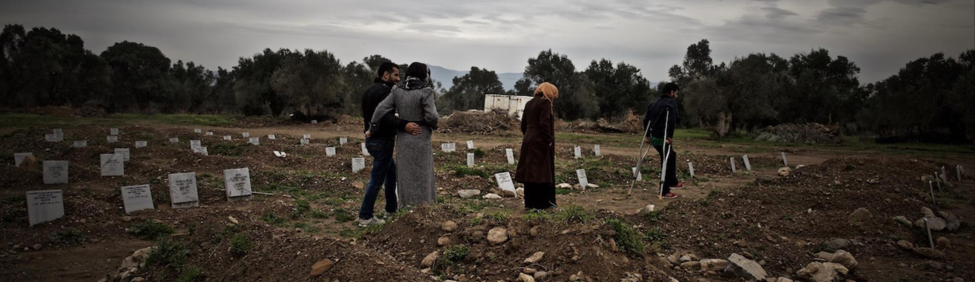 This Man Is Burying the Refugees Who Die Before They Make It to Lesbos
