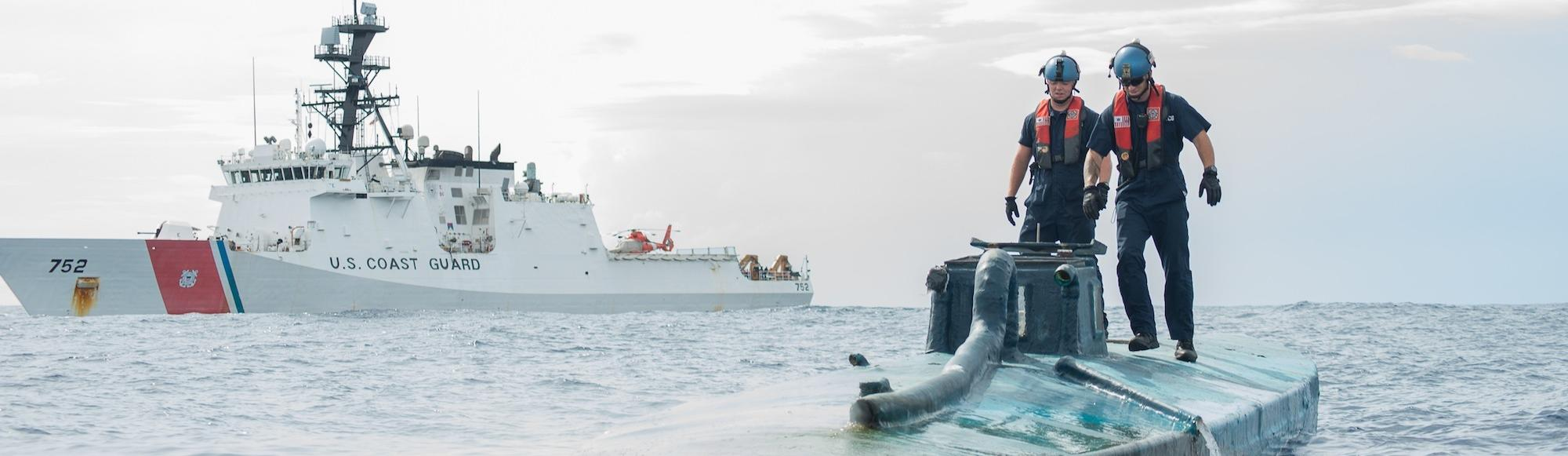 US Agents Watch as 'Narco Sub' Carrying $194 Million Worth of Cocaine Sinks After Bust